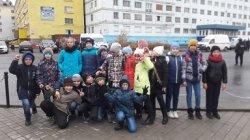 4 класса «А» принял  участие в открытии «Площади портовиков»