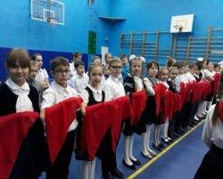 Десять учеников 3 «А» класса дали первую в своей жизни клятву.